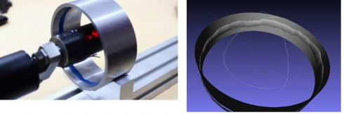 Medidor laser (sem contato) de perfil e diâmetro interno