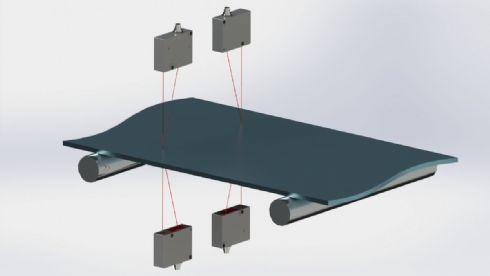 Medidor de espessura sem contato (medição a laser)