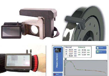 Perfilômetro laser: Medidor de perfil de friso (flange) de rodas ferroviárias