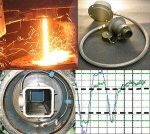 Sensores eletromagnéticos para controle de nível do aço em lingotamento contínuo e controle de camada do pó fluxante